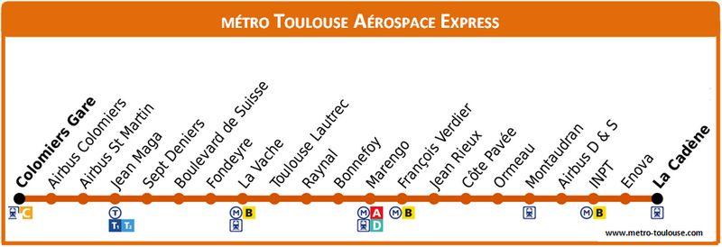 Plan Métro TAE Toulouse