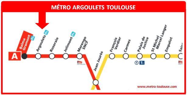 Plan métro Argoulets Toulouse