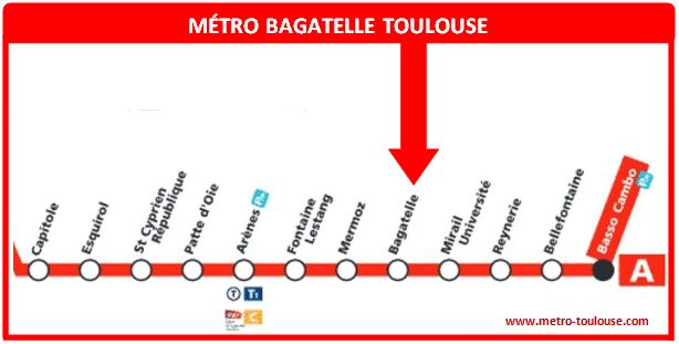 Plan métro Bagatelle Toulouse
