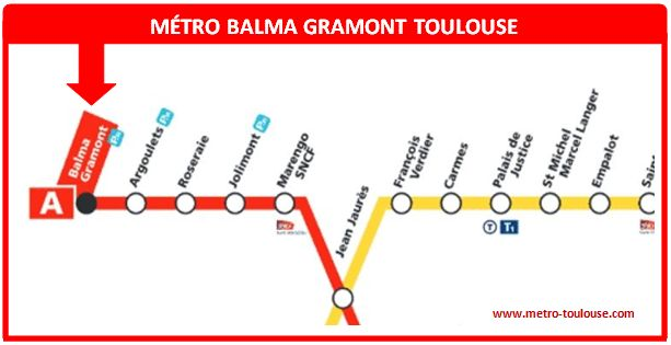 Plan métro Balma Gramont Toulouse