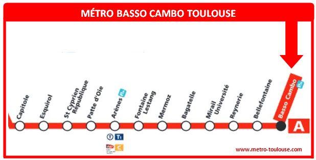 Plan métro Basso Cambo Toulouse