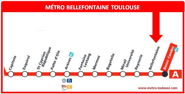 Plan métro Bellefontaine Toulouse