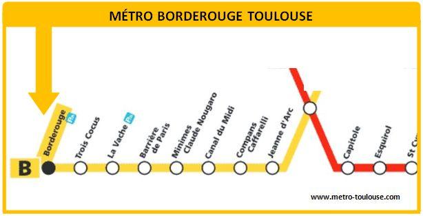 Plan métro Borderouge Toulouse