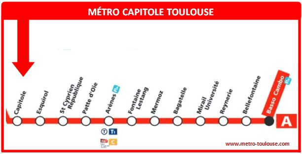 Plan métro Capitole Toulouse