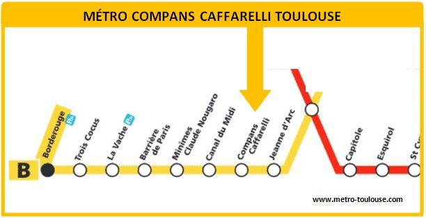 Plan métro Compans Caffarelli Toulouse