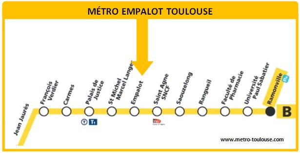 Plan métro Empalot Toulouse
