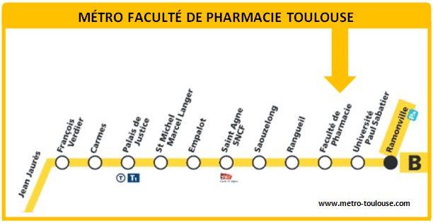 Plan métro Faculté de Pharmacie Toulouse