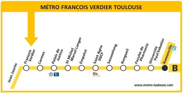 Plan métro François Verdier Toulouse