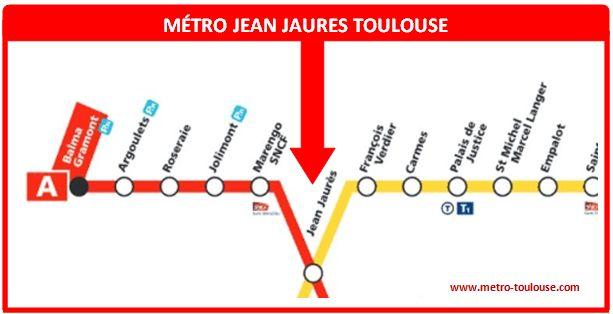 Plan métro Jean Jaurès Toulouse