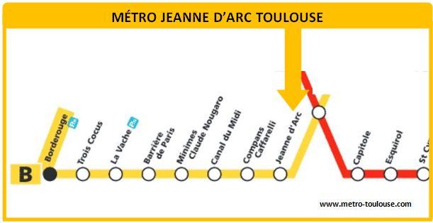Plan métro Jeanne d´Arc Toulouse