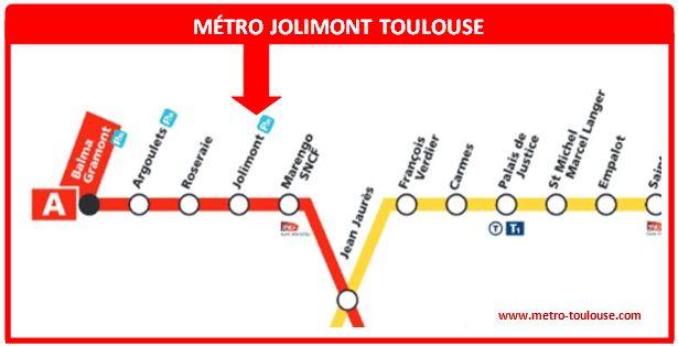 Plan métro Jolimont Toulouse