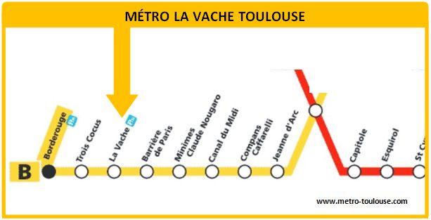 Plan métro La Vache Toulouse