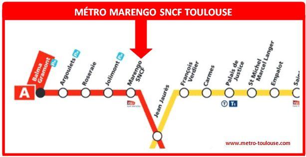 Plan métro Marengo SNCF Toulouse
