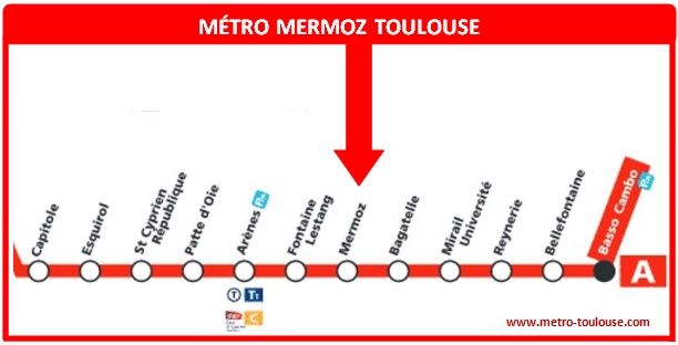 Plan métro Mermoz Toulouse