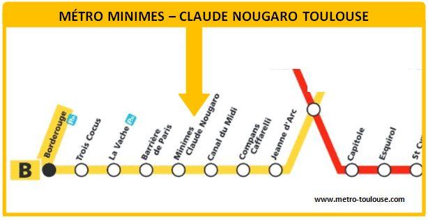 Plan métro Minimes - Claude Nougaro Toulouse