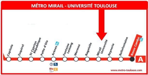 Plan métro Mirail Université Toulouse