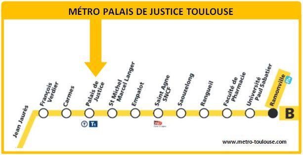 Plan métro Palais de Justice Toulouse
