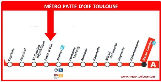 Plan métro Patte d´Oie Toulouse