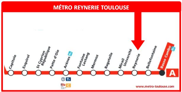 Plan métro Reynerie Toulouse