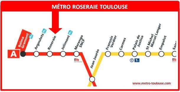 Plan métro Roseraie Toulouse