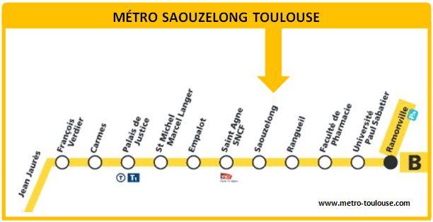 Plan métro Saouzelong Toulouse