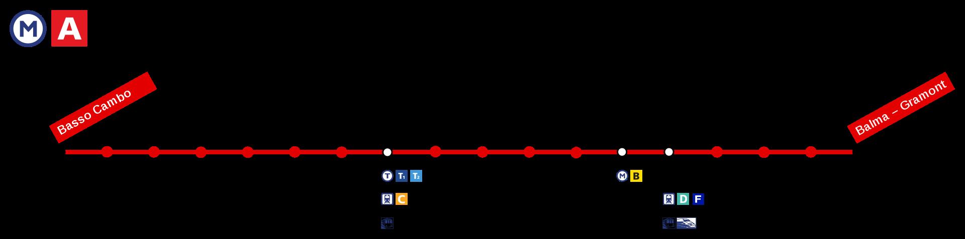 Plan Ligne A Métro Toulouse