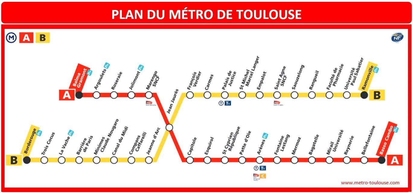 Plan Métro Toulouse