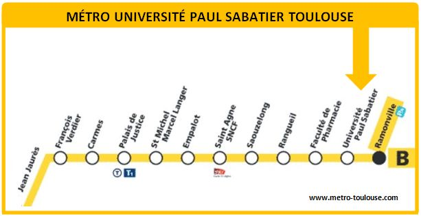 Plan métro Université Paul Sabatier Toulouse