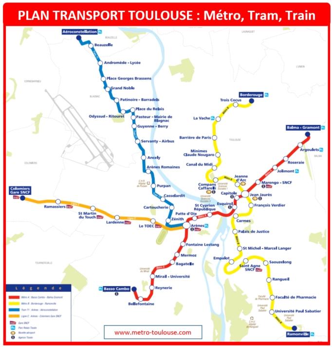Plan transport Toulouse